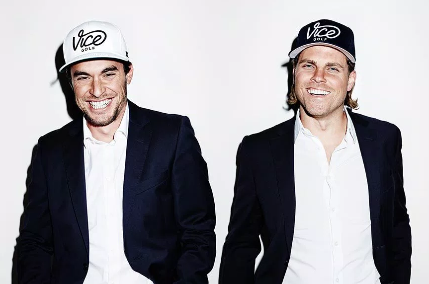 Ingo and Rainer, founders of VICE Golf