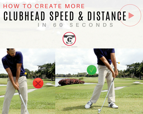 How to create more clubhead speed & distance in 60 secs